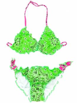 Mc2 Saint Barth Kids TEEN Cris bandana-print bikini CRIS
