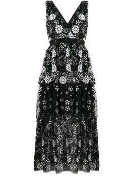 Self-Portrait платье с пайетками и V-образным вырезом RS20087