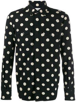 Saint Laurent рубашка в горох 601892Y535V