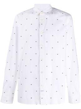 Kenzo рубашка с вышивкой FA55CH2001FM
