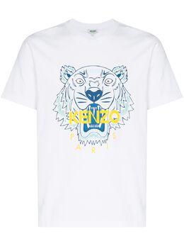 Kenzo футболка с логотипом Tiger FA55TS0504YA