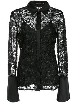Josie Natori блузка с вышивкой H15014