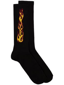 Palm Angels носки вязки интарсия с принтом PMRA001R203950051088
