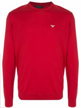 Emporio Armani embroidered logo crew neck jumper 3H1MYH1MD0Z