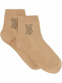 Burberry носки с вышитым логотипом 8013618