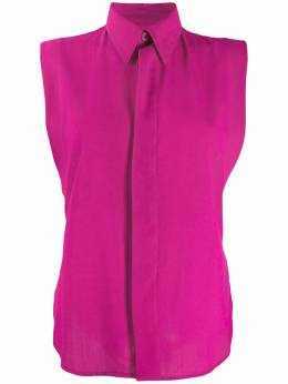 Ami Paris рубашка без рукавов с потайной застежкой E20FC270415