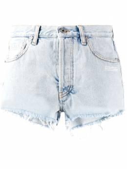Off-White джинсовые шорты с эффектом потертости OWYC002S20DEN0014500