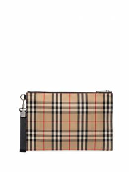 Burberry checked cotton pouch bag 8014989