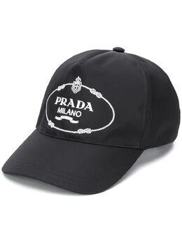 Prada бейсболка с вышитым логотипом 1HC1792EK1