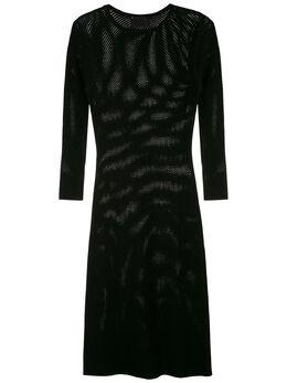Andrea Bogosian сетчатое платье с длинными рукавами 008531
