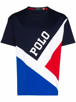 Polo Ralph Lauren colour-block logo print T-shirt 710794941001
