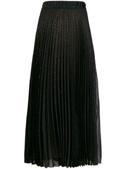 Marco De Vincenzo юбка со стразами и плиссировкой MQ5232MDVPL06