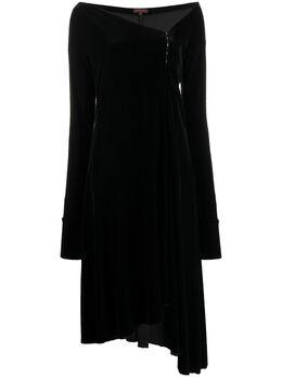 Romeo Gigli Pre-Owned бархатное платье 1990-х годов с асимметричным подолом RGLI280A
