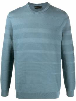 Emporio Armani knitted stripe jumper 3H1MT41MDDZ