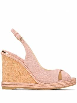 Jimmy Choo босоножки Amely 105 на танкетке AMELY105PUI