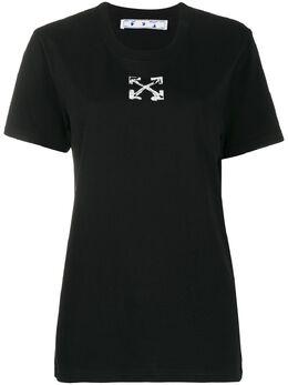 Off-White футболка с принтом OWAA049S20JER0091001