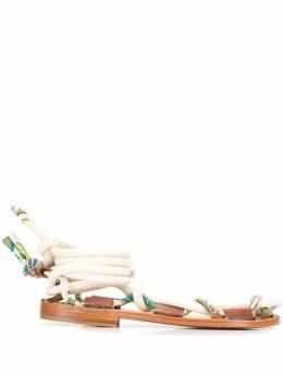 Lanvin сандалии Full Sun на плоской подошве FWSALSLASATI