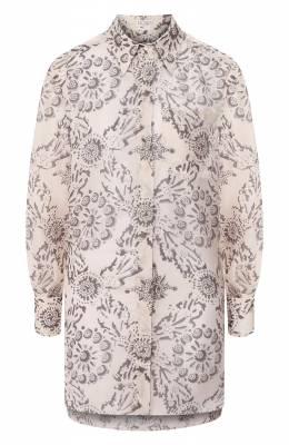 Шелковая блузка Brunello Cucinelli MH973NX706