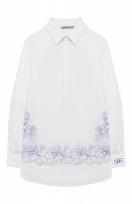 Хлопковая блузка Ermanno Scervino 46I CM05 P0P/10-16