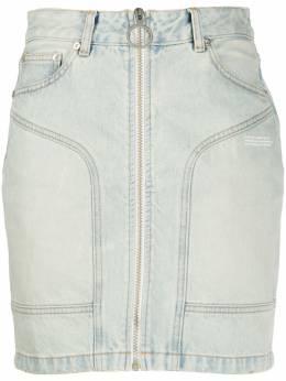 Off-White джинсовая юбка мини на молнии OWYF004R207730687100