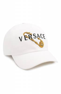 Хлопковая бейсболка Safety Pin Versace ICAP004/A233165