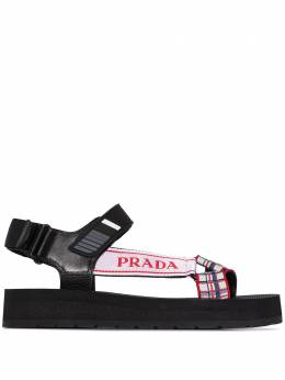 Prada сандалии Nomad с логотипом 1X363LF0402OE8