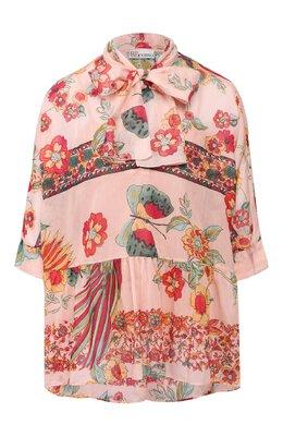 Блузка из смеси хлопка и шелка Red Valentino TR0ABC84/503