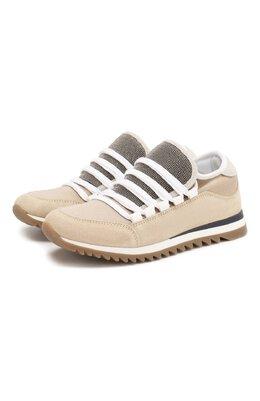 Кожаные кроссовки Brunello Cucinelli BZS0FZG000