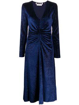 Rotate платье миди number 7 со сборками 900680NUMBER7VELVET