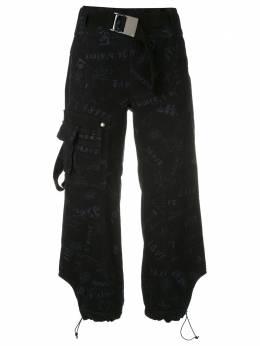 Andrea Bogosian брюки карго Ravena с графичным принтом 008396