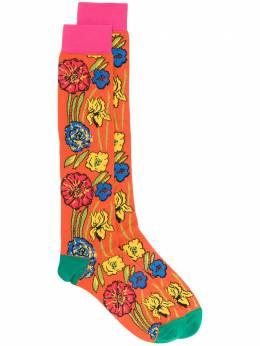 Marni носки с цветочным узором SKMC0069Q0FC1C7
