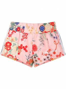 Palm Angels floral print sport shorts PWCB003S20FAB0023020