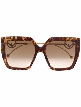 Fendi Eyewear солнцезащитные очки в массивной оправе с логотипом FF0410S