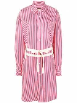 Plan C платье-рубашка в полоску с поясом ABCAB07K01TC039