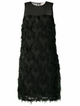 MICHAEL Michael Kors feather embroidered shift dress MF88YA79PB