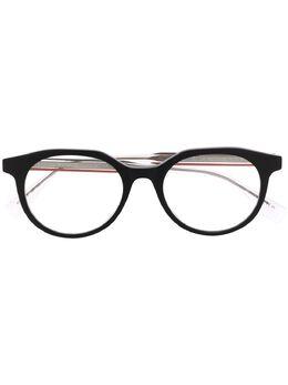 Fendi Eyewear очки в круглой оправе с контрастными дужками FFM0078