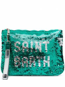 Mc2 Saint Barth sequinned logo clutch PARISIENNEP