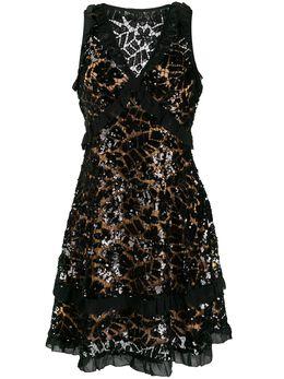 MICHAEL Michael Kors кружевное платье мини с пайетками MF98ZGCD1Y