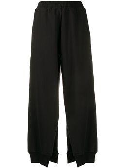 Mm6 Maison Margiela брюки широкого кроя с разрезами S52KA0249S25337