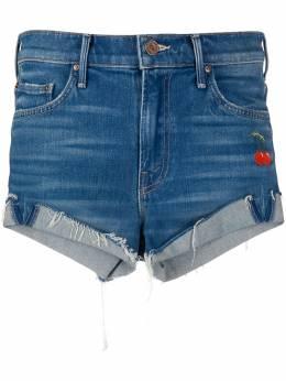 Mother джинсовые шорты с вышивкой 4181551