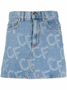 Chiara Ferragni короткая джинсовая юбка с логотипом CFST030