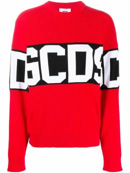GCDS logo band ribbed jumper CC94W021104
