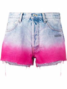 Off-White джинсовые шорты с эффектом деграде OWYC002R207730977128