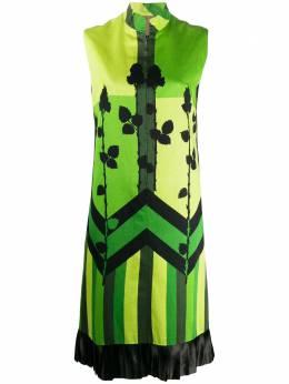A.N.G.E.L.O. Vintage Cult платье с цветочным принтом 1960-х годов в стиле колор-блок AZ354