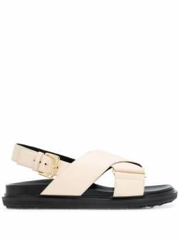 Marni сандалии с перекрестными ремешками FBMS005201LV817