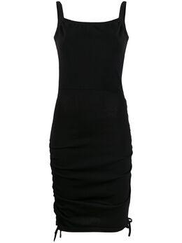 Laneus платье с открытой спиной и сборкой сбоку ABD1416