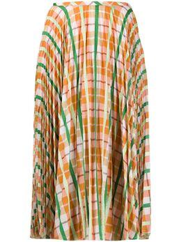 Essentiel Antwerp платье в клетку с завышенной талией VAHLO