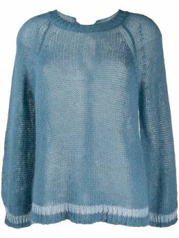Semicouture oversized sheer jumper Y0SB02