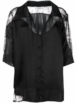 Almaz рубашка оверсайз с кружевными вставками SI0402S20BLACK