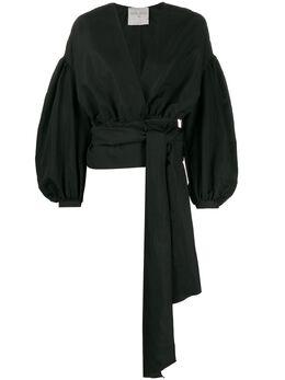 Forte_Forte блузка с пышными рукавами и поясом на завязках 7228MYJACKET